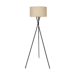 Linen Look Tripod Floor Lamp