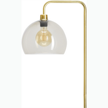 Load image into Gallery viewer, Brass Look Floor Lamp