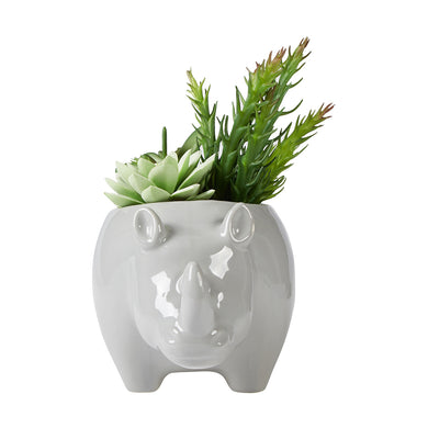 Rhino with Plant