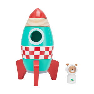 Stackable Wooden Rocket Toy