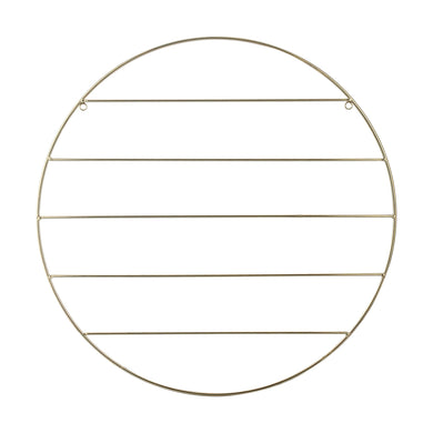 Round Memo Board Gold Look Wire