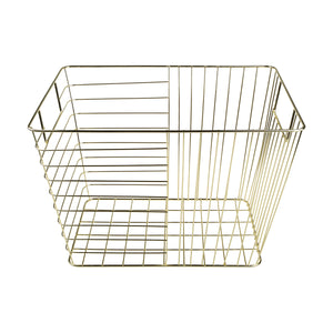 Rectangular Wire Basket - Gold Look