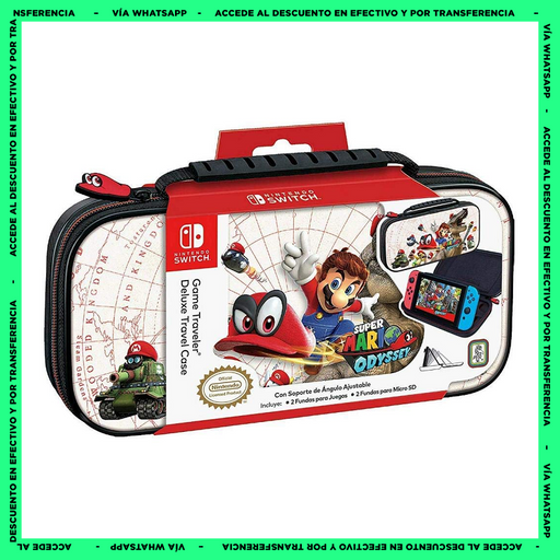 Estuche Nintendo Switch - Super Mario Odyssey - Game Traveler  Deluxe Travel Case - Producto Oficial