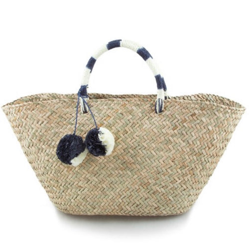 The Basket Bag with Pom Pom's
