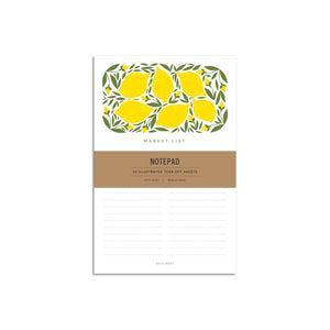 Lemon Market Large Notepad