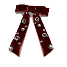 Load image into Gallery viewer, Velvet Barrette Bows (2 Color Options)