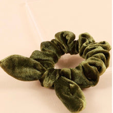 Load image into Gallery viewer, Velvet Bow Scrunchies - Buy as a Set of 5 or Individually