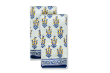 Load image into Gallery viewer, Sagar Blue & Marigold Tea Towels, Set of 2