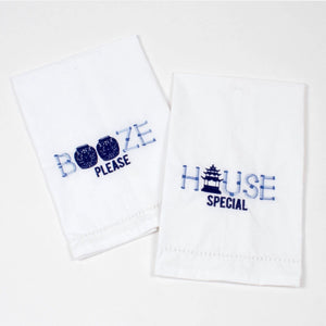 Booze Please/House Special Bar Tea Towel 2pc Set