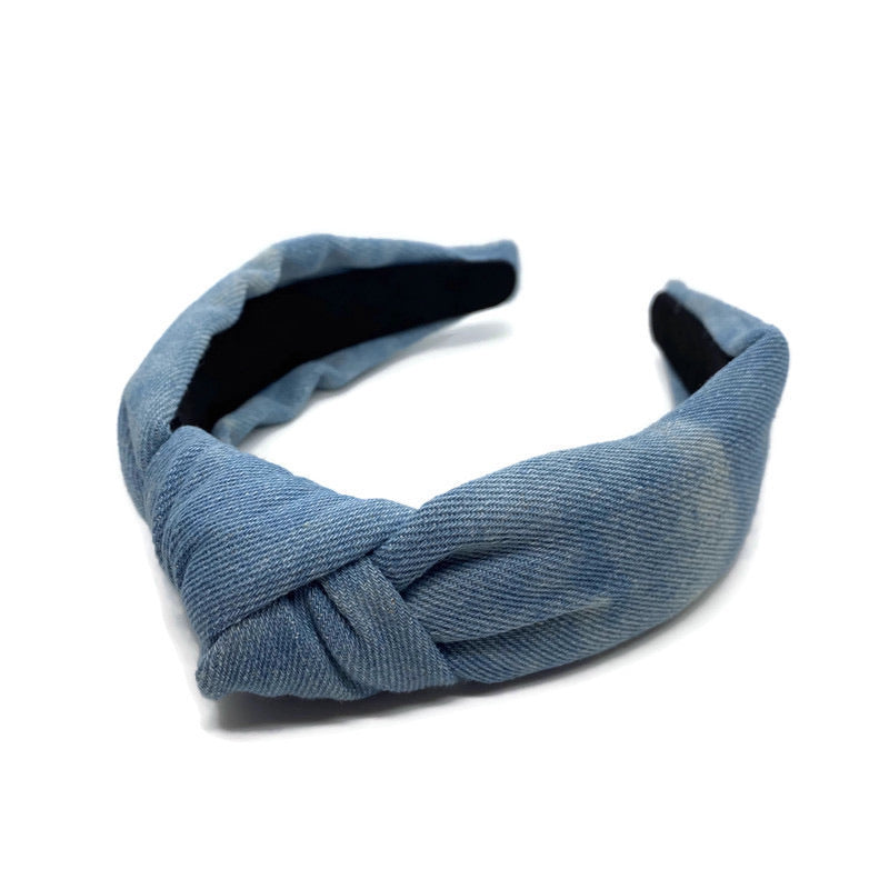 Tie Dye Washed Chambray Headband