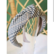 Load image into Gallery viewer, Tan Plaid Topknot Headband