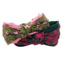 Load image into Gallery viewer, Frankie Floral Topknot Headband, Two Color Options