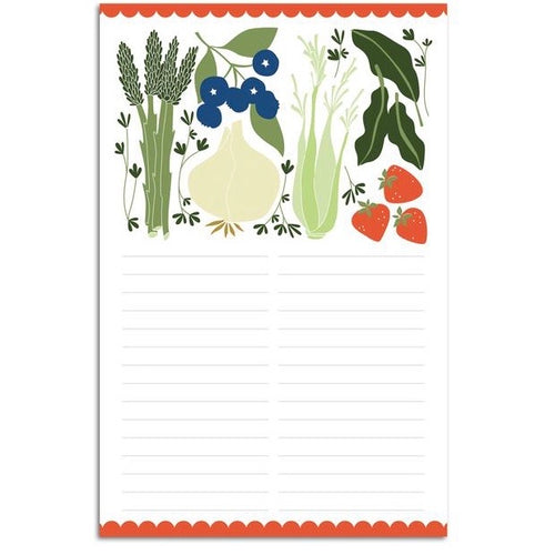 Fruits & Veggies Large Notepad