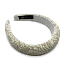 Load image into Gallery viewer, Ivory Beaded Padded Headband