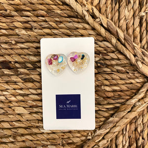 Acrylic Heart Earrings