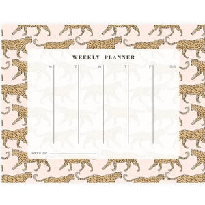 Leopard Weekly Planner Notepad Set