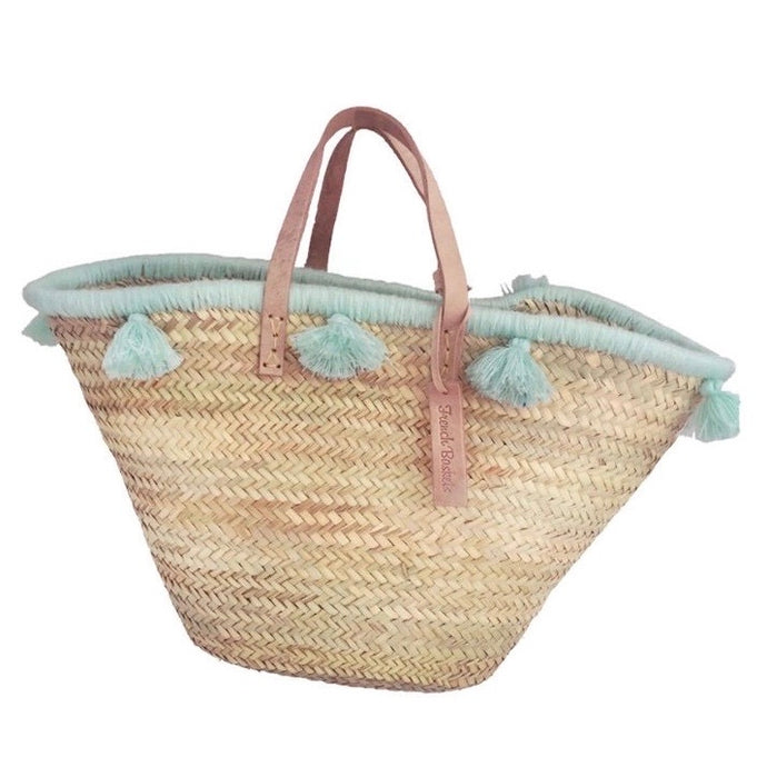 Pastel Lagoon Tassel Beach Bag