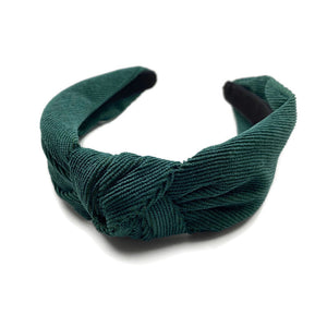 Traditional Corduroy Topknot Headbands (7 Color Options)