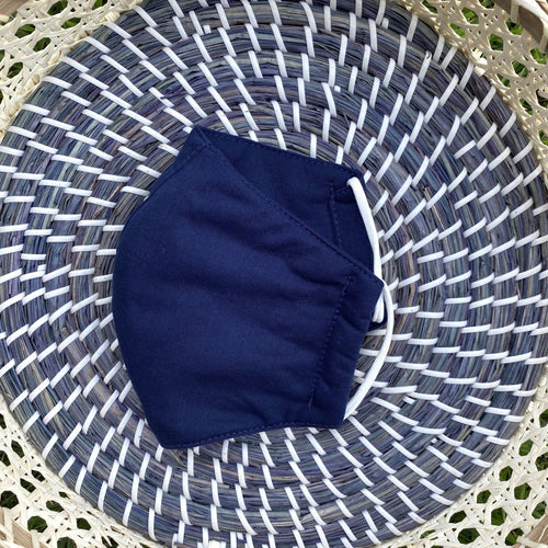Cotton Face Mask - Small (Navy)