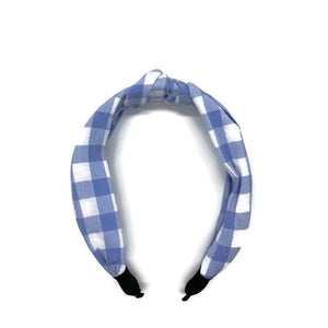 Classic Gingham Topknot Headband (2 Color Options)