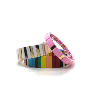 Enamel Tile Bracelets (2 Color Options)