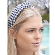 Load image into Gallery viewer, Black Gingham Topknot