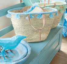 Load image into Gallery viewer, Pastel Lagoon Tassel Beach Bag