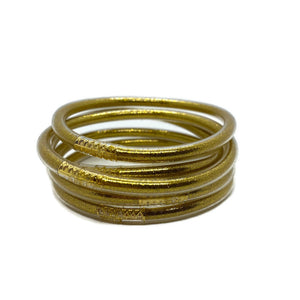 Zen Jelly Bangles - Gold (Set of 5)