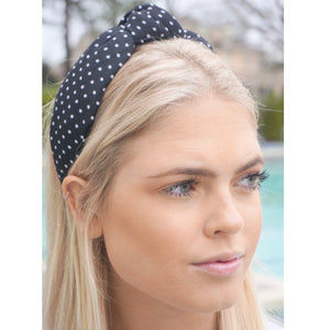 Black & White Dot Topknot Headband