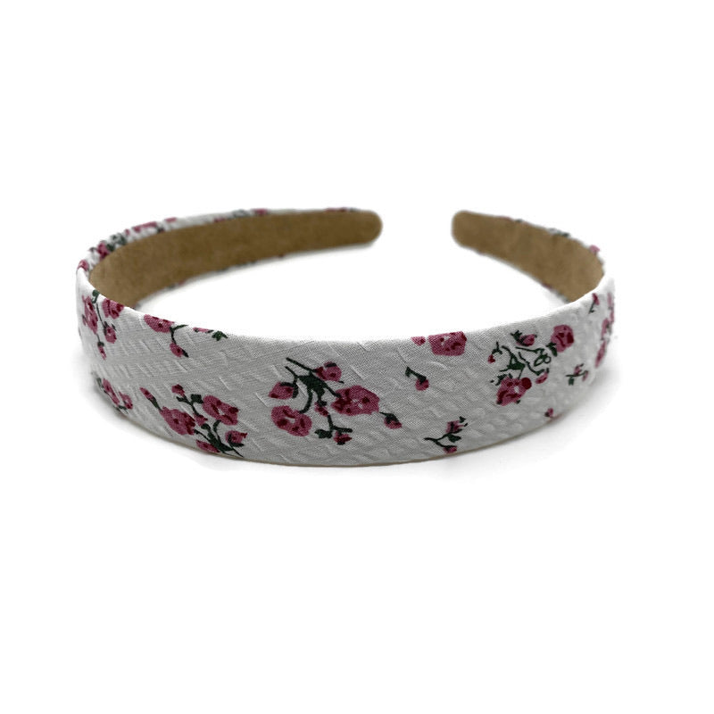 White Rouged Floral Vintage Band Headband