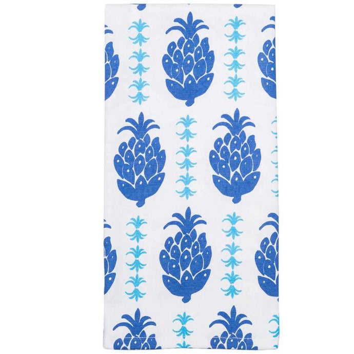 Pineapple Indigo Tea Towels (Set of 2)