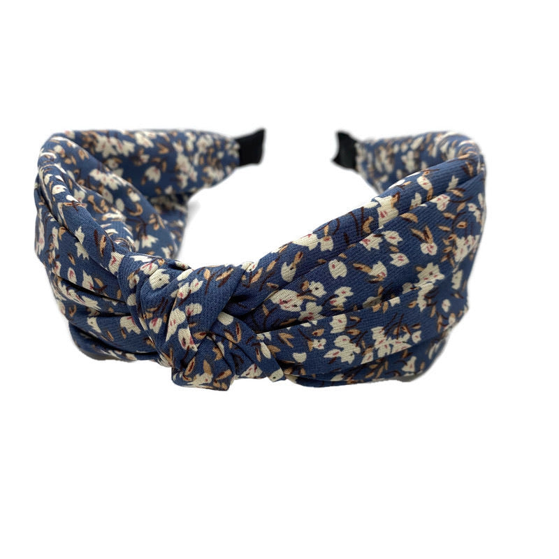 Blue Poppy Top Loop Headband