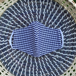 Gingham Toddler Cotton Face Masks - (2 Color Options)