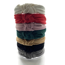 Load image into Gallery viewer, Traditional Corduroy Topknot Headbands (7 Color Options)