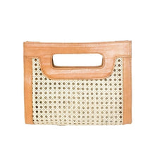 Load image into Gallery viewer, Kate Cane Clutch - Camel Leather