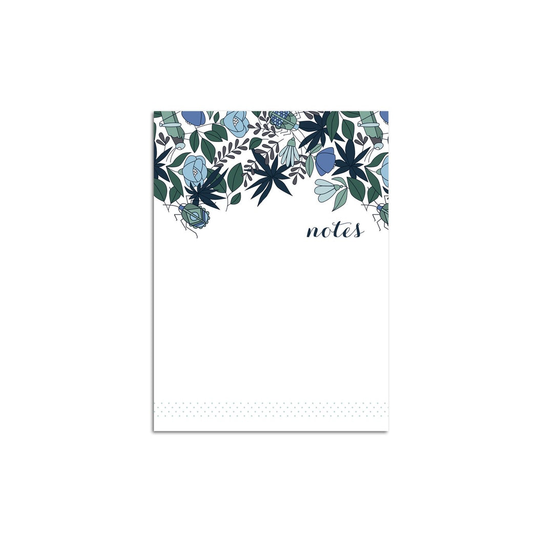 Blue Florals Bouquet Small Notepad