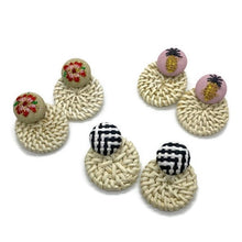 Load image into Gallery viewer, Rattan Earrings (3 Color Options)