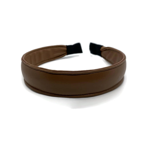 Tan Leather Band Headband