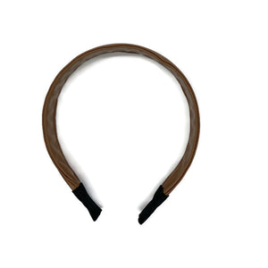 Camel Faux Leather Band Headband