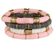 Load image into Gallery viewer, Heishi Disc Bracelet Stack (Set of 4)