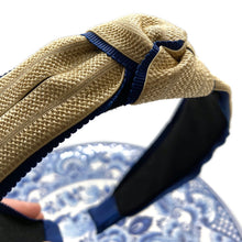 Load image into Gallery viewer, Woven with Ribbon Trim Topknot Headbands (2 Color Options)