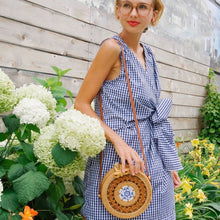 Load image into Gallery viewer, The Chinoiserie Round Rattan Crossbody