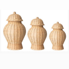 Load image into Gallery viewer, Wicker Ginger Jars (3 Sizes)