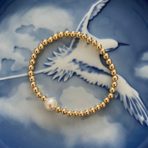 Pearl 14K Gold Filled Bracelet (Custom Order)