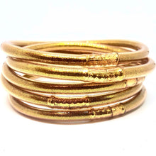 Load image into Gallery viewer, Zen Jelly Bangles - Gold (Set of 5)