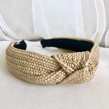 Load image into Gallery viewer, Rattan Top Knot Headband