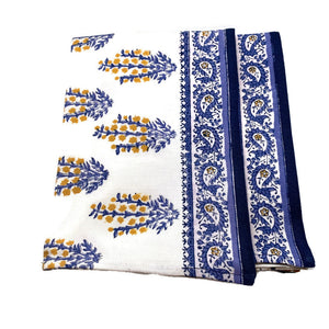 Sagar Blue & Marigold Tea Towels, Set of 2