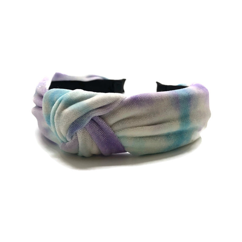 Ultra Soft Tie Dye Topknot Headband