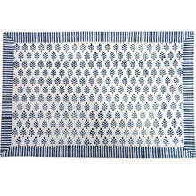 Load image into Gallery viewer, Neem Majolika Block Print Cotton Placemats (Set of Two)