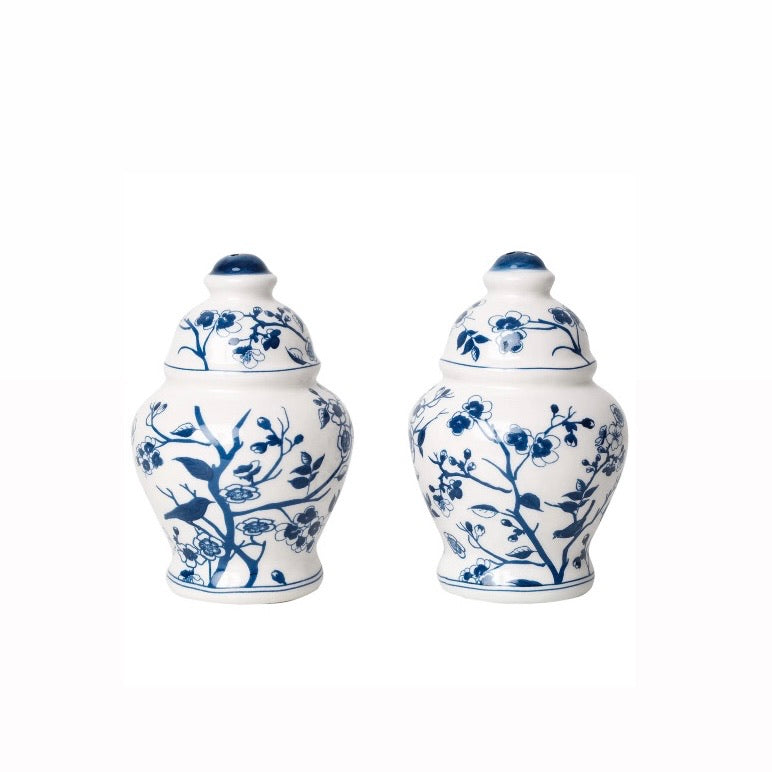 Porcelain Floral & Vine Salt and Pepper Shakers